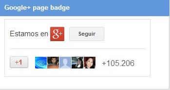agregar una insignia de google+ en mi web