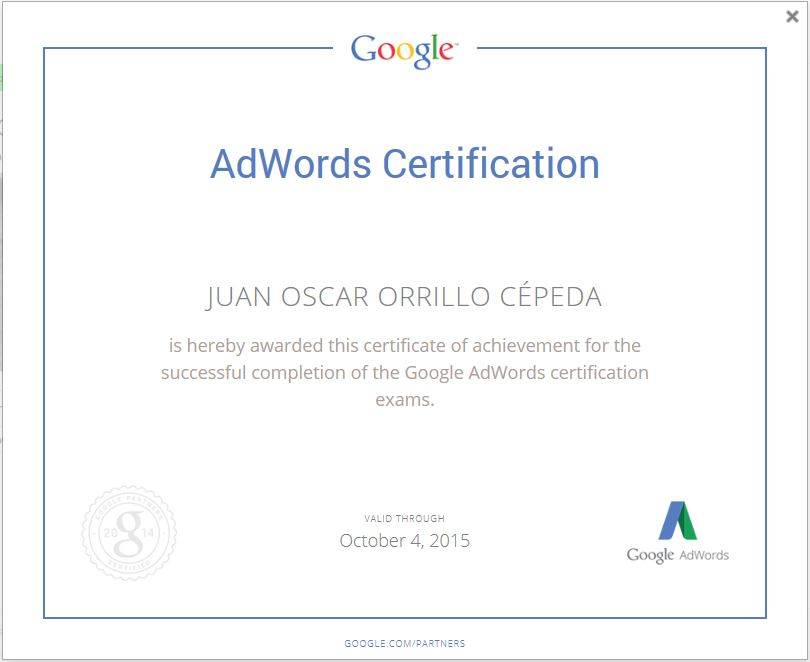socio certificado google adwords peru