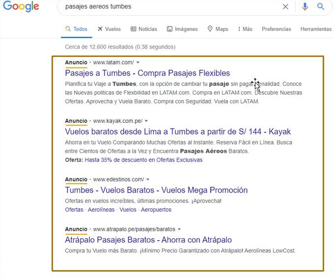publicidad en google ads anuncios google sem