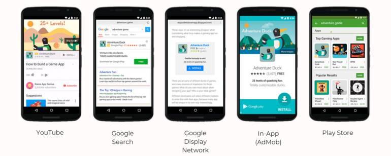 google ads universal para moviles